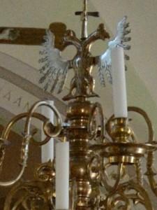 Euran kirkko - Kaksipäinen kotka